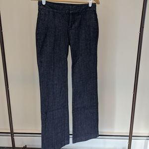 Gap Aubrey dark blue denim boot cut office pants